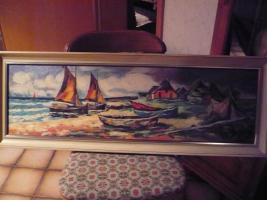 Bild ''Küste mit Schiffen''