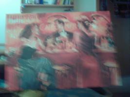 Foto 2 Bild auf Leinwand rot/orange Töne 98 cm x 68 cm