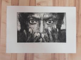 Foto 3 Bild: Radierung Miles Davis (Jazz, Musiker, Trompeter, Trompete, Komponist, Bebop...)