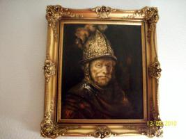 Bild mit Rahmen ''Der Mann mit dem Goldhelm''