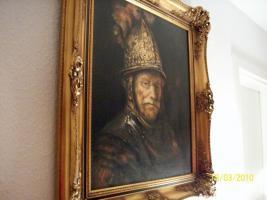 Foto 2 Bild mit Rahmen ''Der Mann mit dem Goldhelm''