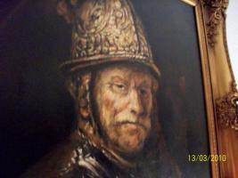 Foto 4 Bild mit Rahmen ''Der Mann mit dem Goldhelm''