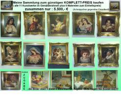 Foto 2 Bild - '' Esstisch mit Früchten '' - gemaltes Bild im passendem zeitlosem Holzrahmen
