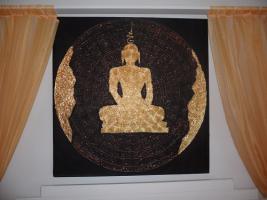 Foto 3 __Bild __Handgemalen__Goldener__Buddha__Thailand