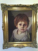Bild - '' die weinenden Kinder aus Brogolin '' im hochwertigem Gemälderahmen
