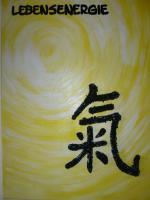 Foto 2 Bilder mit Acryl   - Lebensenergie- Chinesisches Zeichen