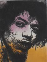 Foto 5 Bilder: Radierung Jimi Hendrix (Musiker, Gitarrist, E- Gitarre, Rockmusik, Woodstock...)