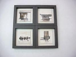 Foto 2 Bilder, Rahmen, Spiegel, Vergoldung, Wandgestaltung