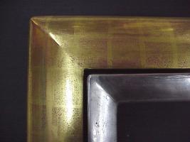 Foto 3 Bilder, Rahmen, Spiegel, Vergoldung, Wandgestaltung