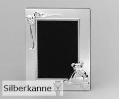 Bilderrahmen Bär 9x13cm, versilbert / SILBER plated