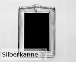 Bilderrahmen Medaillon 13x18 cm, versilbert / SILBER plated