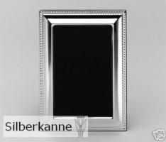Bilderrahmen Perlrand 9x13cm, versilbert / SILBER plated