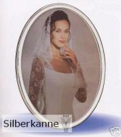 Bilderrahmen oval 9x13 cm Silber 925