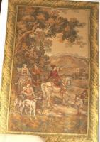 Bildteppich (Gobelin) aus Aubusson, Originalbez. ''Jagd in den Bergen''