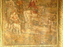 Foto 2 Bildteppich (Gobelin) aus Aubusson, Originalbez. ''Jagd in den Bergen''