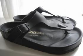 Birkenstock Gr. 38 schwarz aus echtem Leder