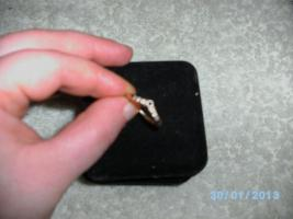 Foto 2 ++Blauer Saphir/Diamant-Ring++(Gr:19) 375GG, -Preis=VHS, Versand gratis!
