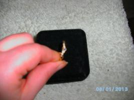 Foto 3 ++Blauer Saphir/Diamant-Ring++(Gr:19) 375GG, -Preis=VHS, Versand gratis!