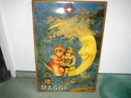 Foto 2 Blechschild Maggi ''Kinder auf der Mondsichel''