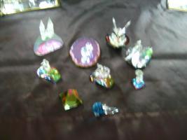 Foto 4 Bleikriatall-Vitrinen und Figuren( Bleikristallregen)