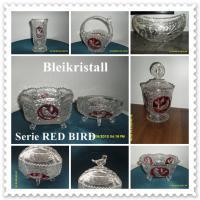 Bleikristall Hofbauer Serie Red Bird