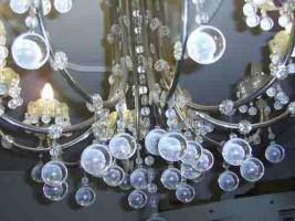 Foto 2 Bleikristall Luster schwer und dekorativ