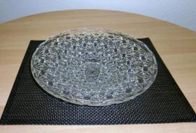 Bleikristall Schale/ Platte