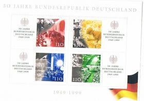 Blockausgabe 50 Jahre Bundesrepublik Deutschland !
