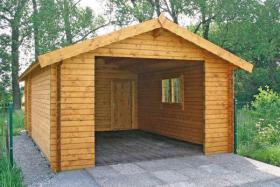 Foto 16 Blockbohlengaragen, Holzgaragen, Garagen, in vielen Grössen, ..auch nach Kundenmaß, ..