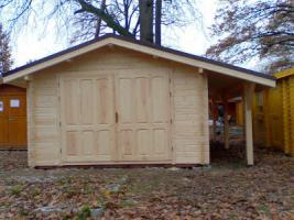 Foto 8 Blockbohlengaragen, Holzgaragen, Garagen, in vielen Grössen, ..auch nach Kundenmaß, ..