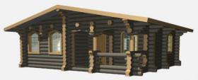 Foto 12 Blockhäuser aus karelischen Kiefer