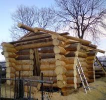 Blockhütte Naturstamm Gartenhütte