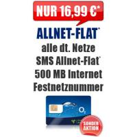 Blue All-in M 16,99 Aktion Simkarte Handyvertrag O2 Allnetflat