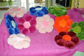 Blumen-Kuschel-Decke