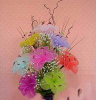 Blumen aus Naylon, Strauss.
