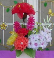 Foto 2 Blumen aus Naylon, Strauss.
