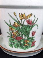 Foto 2 Blumentöpfe (3er-Set) von Schütte aus Feinkeramik mit Blumendekoration