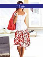 Bluse mit Gürtel weiß - heine - Größe 34 - Neu & OVP