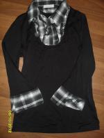 Bluse Schwarz  2in1 Rein schauen
