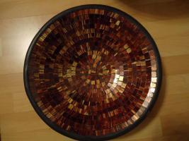 Foto 3 BodenVase XXL (82cm) u pass. Schale GLASMOSAIK Mosaik NEUwertig!!