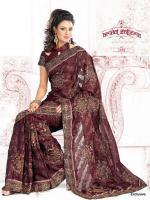 Bollywood Fabulous Net Jacquard Saree (Sari)