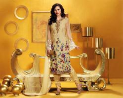 Bollywood-Fashion der Kategorie Salwar Kameez Stoff Unstitched