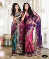Bollywood-Fashion wedding Designer Sarees mit viel Handarbeit