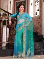 Bollywood Hochzeit Party Kollektion Saree neu