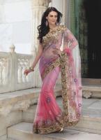 Bollywood SARI INDISCHE HOCHZEIT und PARTY KLEID mit Blusenstoff