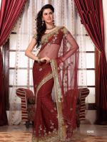 Bollywood SARI INDISCHE PARTY KLEID mit Blusenstoff