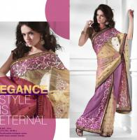 Bollywood Spectacular Ready Pleated Half And Half Saree (sari)
