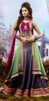 Foto 3 Bollywood salwar Kameez Unstitched stoff set