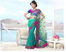 Bollywood   LUXUS FASHION Net Sari
