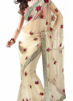Foto 2 Bollywoods Elegance Embroidered Net Saree (Sari)